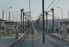 Istanbul tram Stock Photos