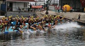 Istanbul Triathlon 2016 Stock Images