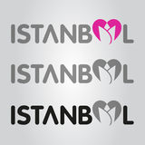 Istanbul tulip heart logo Stock Photo