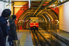 Istanbul tunnel train Royalty Free Stock Photography
