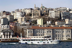Istanbul, Turkey. Istanbul the capital of Turkey, very old mosque above city Royalty Free Stock Photography