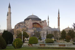 Istanbul - Turkey. Hagia Sophia Mosque in the city of Istanbul in Turkey stock photo