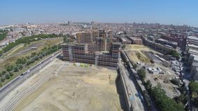 Istanbul - Turkey Aerial footage of construction site - 23 July 2016. Top view stock footage