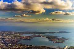 Istanbul turkey aerial view Stock Images