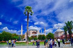 Amazing sunny day !!. Istanbul in Turkey Royalty Free Stock Photography