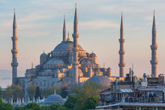 ISTANBUL, TURKEY - APRIL 27, 2015: Blue Mosque Sultan Ahmet Camii Sultanahmet Stock Photos