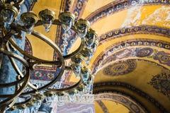 ISTANBUL TURKEY:  April 10, 2016. Interior of the Hagia Sophia Ayasofya in Istanbul, Turkey - architectural  fragment. Stock Photos