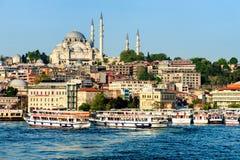 Istanbul, Turkey - April 19, 2016: Istanbul city view Royalty Free Stock Photo