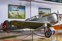 Museum of aviation in Istanbul is represented by a large collection of military civil aircraft and also the history of aviation in. ISTANBUL, TURKEY - 4 APRIL royalty free stock photography