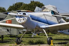 Museum of aviation in Istanbul is represented by a large collection of military civil aircraft and also the history of aviation in. ISTANBUL, TURKEY - 4 APRIL royalty free stock images
