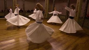Istanbul, Turkey / April 30, 2016 - Whirling Dervish Second Act stock video footage