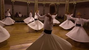 Istanbul, Turkey / April 30, 2016 - Whirling Dervish Start Celebration stock video footage