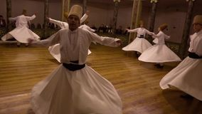 Istanbul, Turkey / April 30, 2016 - Whirling Dervish Third Act stock video