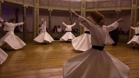 Istanbul, Turkey / April 30, 2016 - Whirling Dervish Youth Celebration stock footage