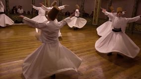 Istanbul, Turkey / April 30, 2016 - Whirling Dervish Youth stock footage