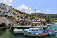 ISTANBUL, TURKEY, AUGUST 24, 2015: Kavagi Village Royalty Free Stock Images