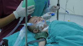 ISTANBUL - TURKEY, AUGUST 2015: child surgery operation in hospital stock footage