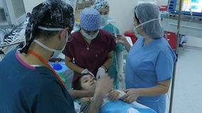ISTANBUL - TURKEY, AUGUST 2015: child surgery operation in hospital stock video