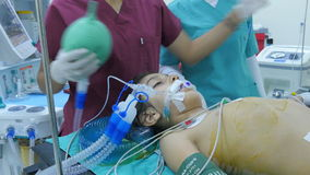ISTANBUL - TURKEY, AUGUST 2015: child surgery operation in hospital stock video footage