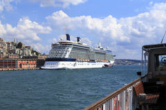 ISTANBUL, TURKEY - August 24 ,2015: Cruises ship in Golden Horn Stock Photo