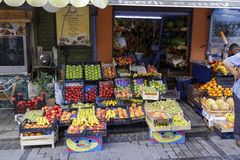 ISTANBUL, TURKEY - August 22 ,2015: Fruits in local market. Stock Photography