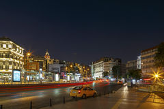 ISTANBUL, TURKEY, AUGUST 24, 2015: Galata district, Galata tower Royalty Free Stock Photography
