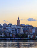 ISTANBUL, TURKEY - AUGUST 24,2015:Galata Tower in the morning. Stock Photo