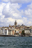 ISTANBUL, TURKEY - AUGUST 24,2015: Galata Tower in sunny day. Stock Photography