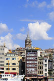 ISTANBUL, TURKEY - AUGUST 24,2015: Galata Tower in sunny day. Stock Image