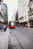 ISTANBUL, TURKEY - August 22 ,2015: Istanbul modern fast tramway Royalty Free Stock Images