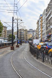 ISTANBUL, TURKEY - August 22 ,2015: Modern tram way on Istanbul. Stock Photography