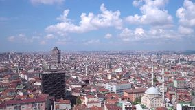 Timelapse of Istanbul landscape on a sunny day with all the mass residential buildings stock video footage