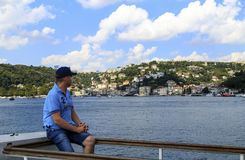 ISTANBUL, TURKEY - August 24 ,2015: Undefined man traveler ,Istanbul. Stock Photography