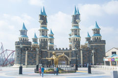 ISTANBUL, TURKEY - August 28, 2013: Vialand Theme Park on August Royalty Free Stock Photo