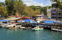 ISTANBUL, TURKEY, AUGUST 24, 2015: View over marina in kavagi vi Royalty Free Stock Photography