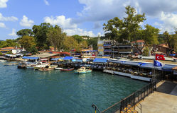 ISTANBUL, TURKEY, AUGUST 24, 2015: View over marina in kavagi vi Stock Photos