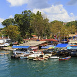 ISTANBUL, TURKEY, AUGUST 24, 2015: View over marina in kavagi Royalty Free Stock Photo