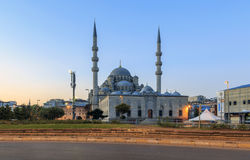 ISTANBUL, TURKEY - AUGUST 24,2015:Yeni Cami ( New Mosque ) in the morning, Istanbul, Turkey. Stock Photos