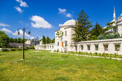 Istanbul, Turkey. Auxiliary Building Suleymaniye Mosque, fence Stock Photo