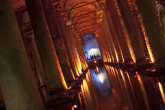 Istanbul, Turkey - Basilica Cistern, Sunken Palace Stock Photo