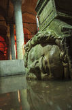Istanbul, Turkey - Basilica Cistern, Sunken Palace, Medusa Head Stock Photos
