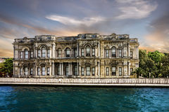 Istanbul in Turkey - Beylerbeyi Palace on the bank of Bosphorus Stock Photos