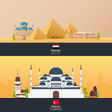 Istanbul. Turkey. Blue Mosque. Tourism. Travelling illustration. Modern flat design. Turkey travel. Stock Photography