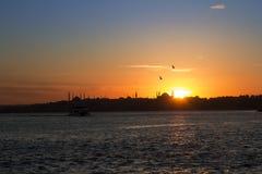 Istanbul / Turkey. Bosphorus at sunset - Istanbul/Turkey royalty free stock photos