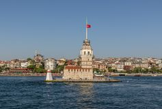 The Maiden`s Tower of Istanbul. Turkey royalty free stock photos