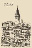 Istanbul, Turkey, City Architecture, Galata Tower Stock Photos