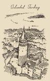 Istanbul, Turkey, City Architecture, Galata Tower Stock Image
