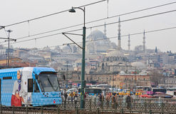Istanbul, Turkey. City from the Galata Bridge Royalty Free Stock Images
