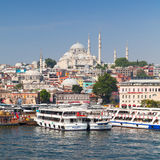 Istanbul, Turkey. Cityscape with passenger ships Royalty Free Stock Images