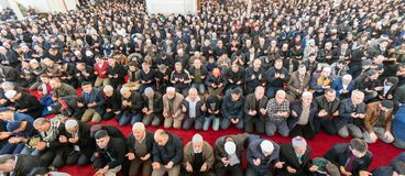 Friday prayer is a prayer performed once a week by Muslims. Stock Photos